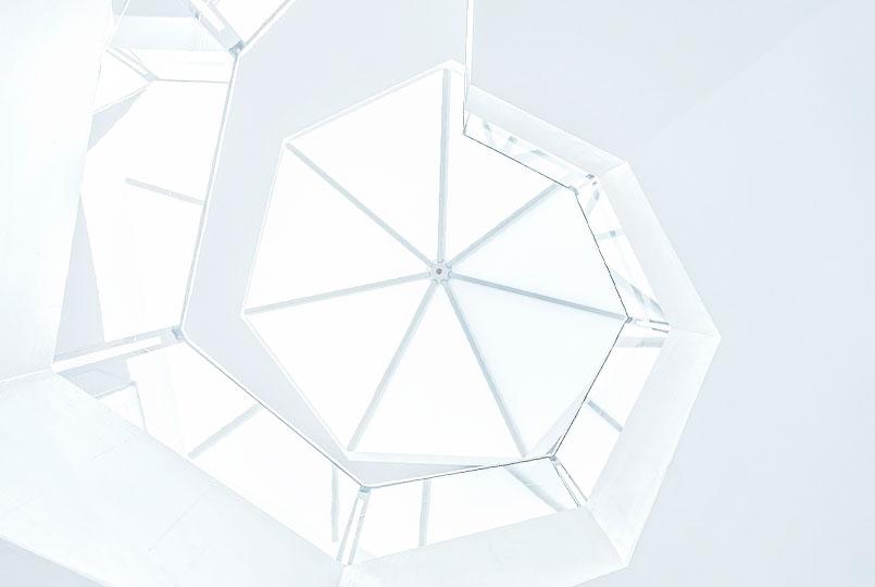 Formas geométricas que formam uma escada em caracol. Foto por Joel Filipe.